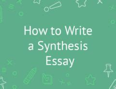 Sample thesis statements and explanatory synthesis